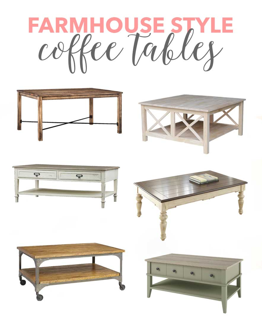 Farmhouse Style Coffee Tables - so many beautiful and affordable coffee tables to choose from!