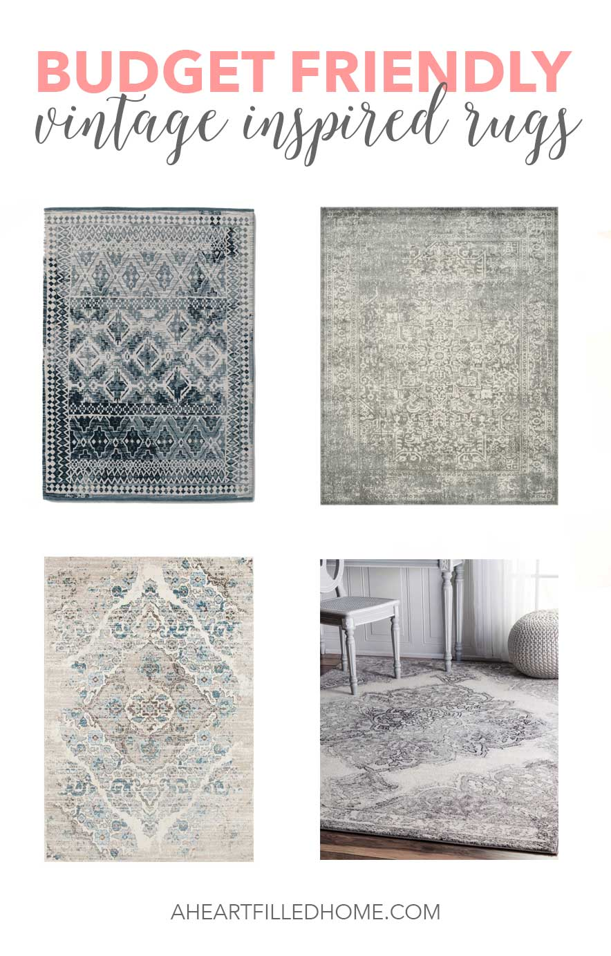 Budget Friendly Vintage Inspired Rugs