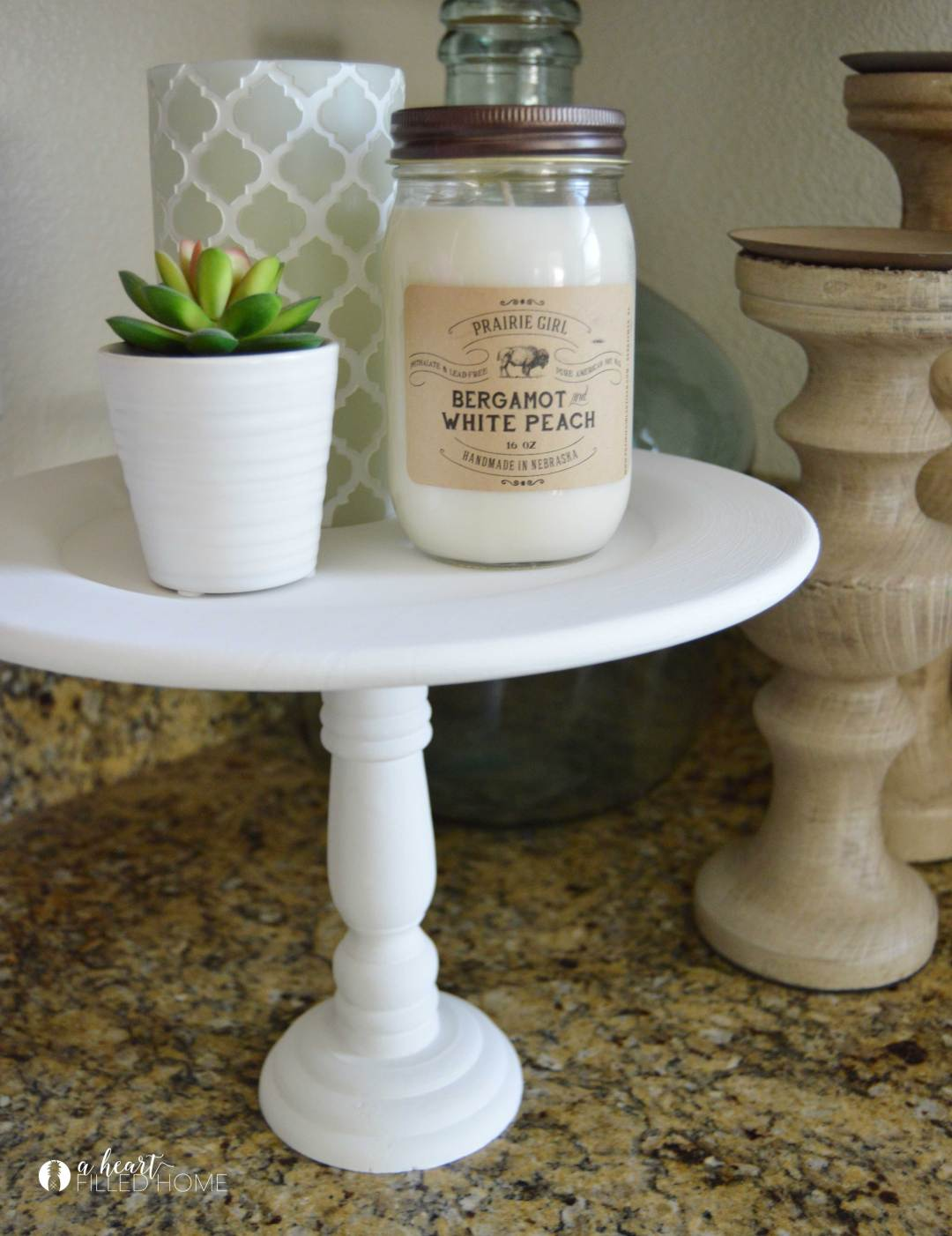 How to make a simple and easy DIY cake stand! Perfect for entertaining and decorating your home!