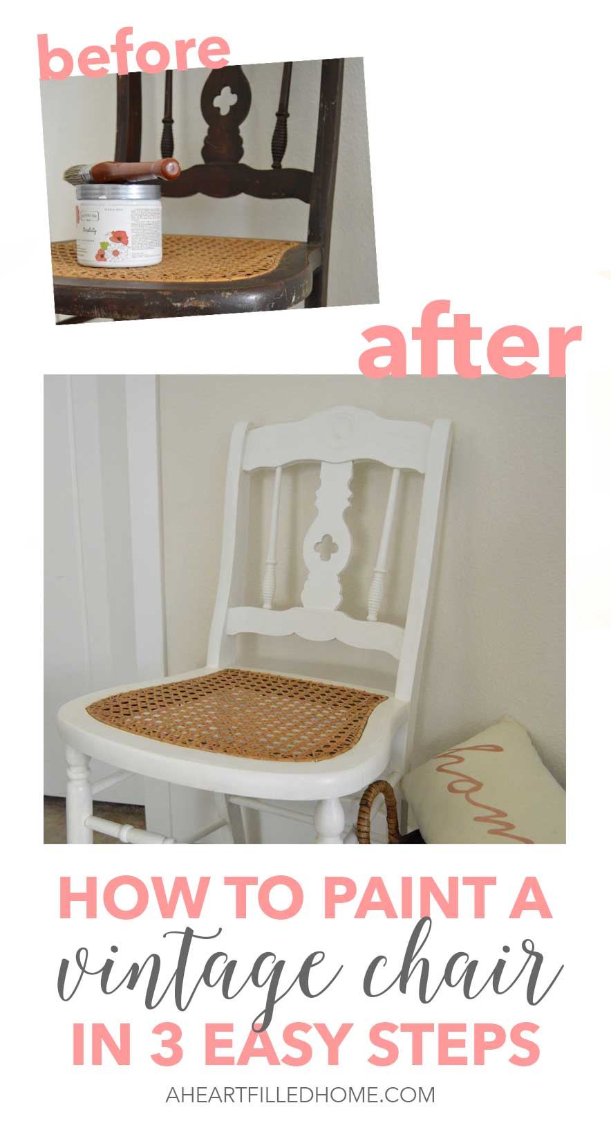 How to paint a vintage chair in 3 easy steps!