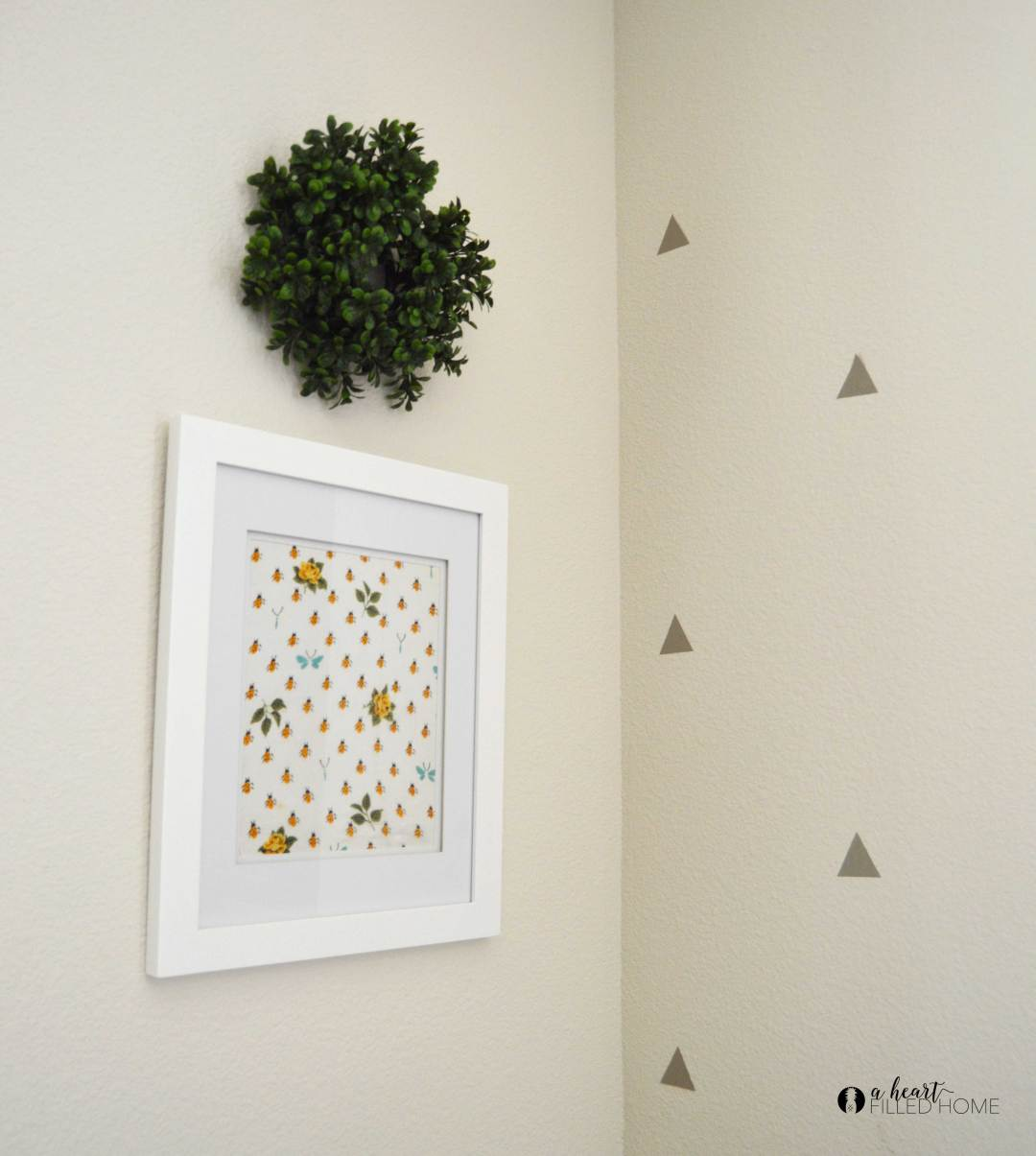 This easy DIY sentimental handkerchief framed art is so simple to make!