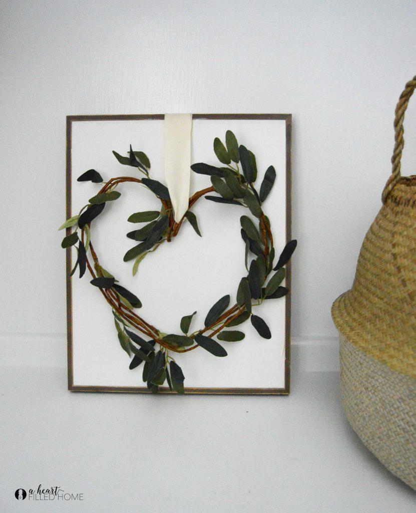 DIY Farmhouse Valentine's Wreath