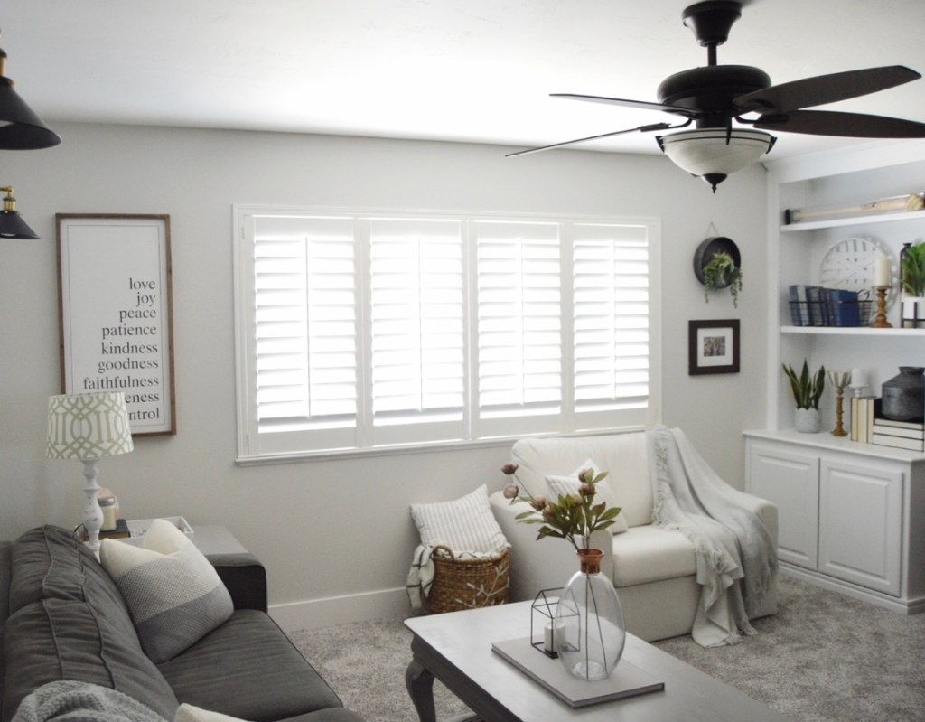 See how I transformed our living room into a beautiful modern farmhouse living room! from A Heart Filled Home
