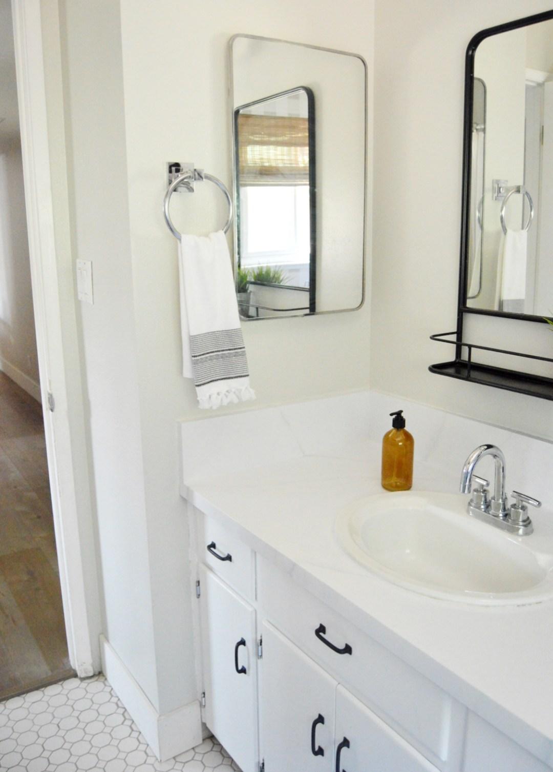 Beautiful Modern Farmhouse Guest Bathroom Makeover - ORC ...