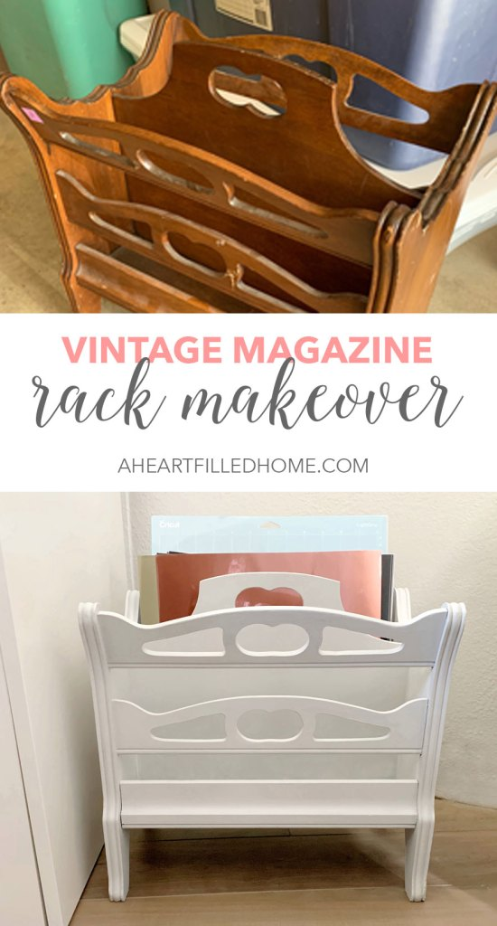 I have this vintage magazine rack a much needed makeover with the help of Fusion Mineral Paint!