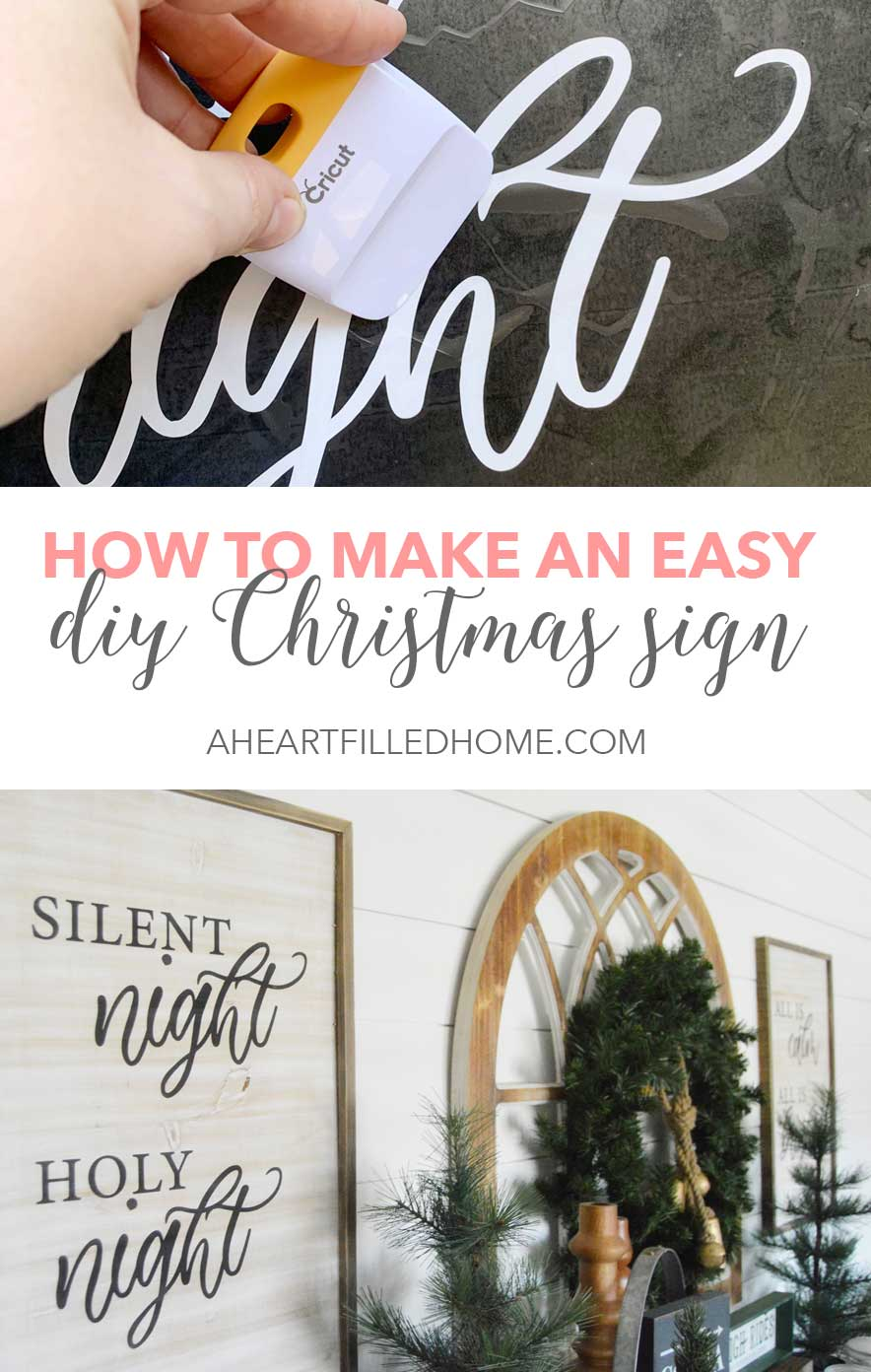 Easy Diy Christmas Sign Free Svg File Free Printable A Heart Filled Home Diy Home Decor