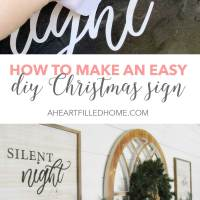 Easy DIY Christmas Sign + Free SVG File + Free Printable