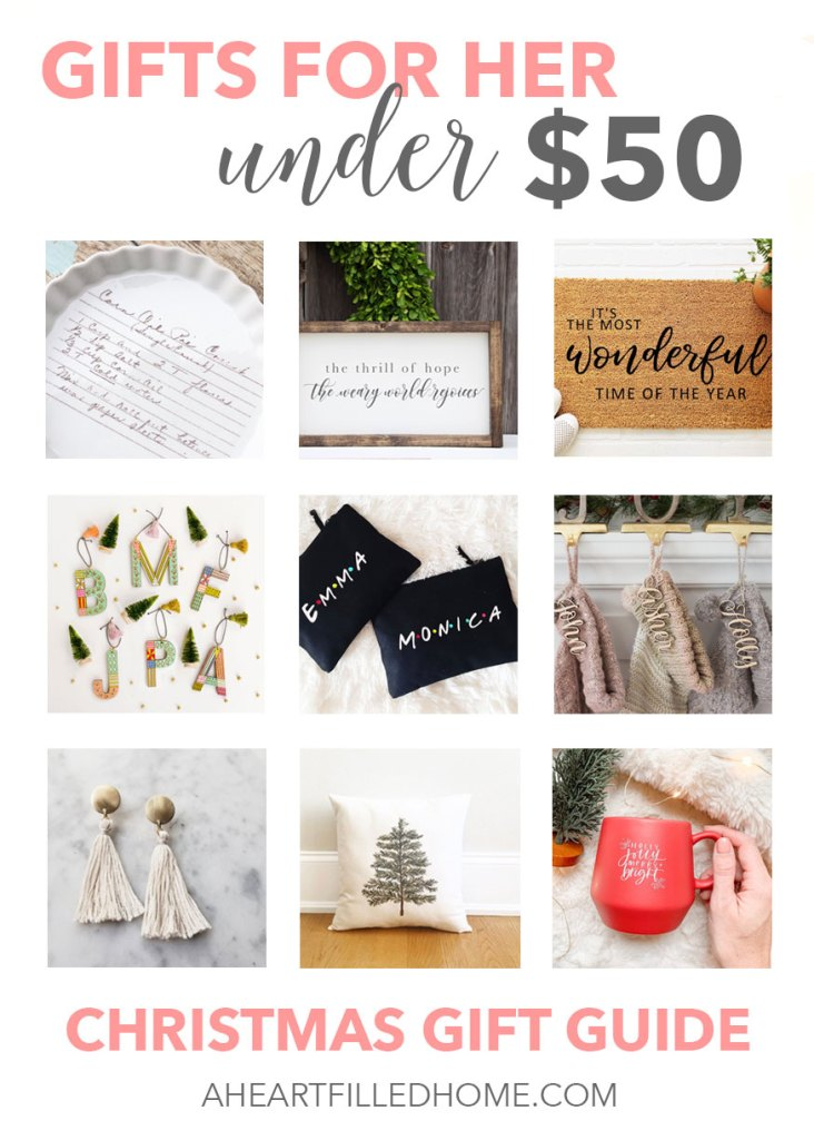Etsy gifts for her under $50