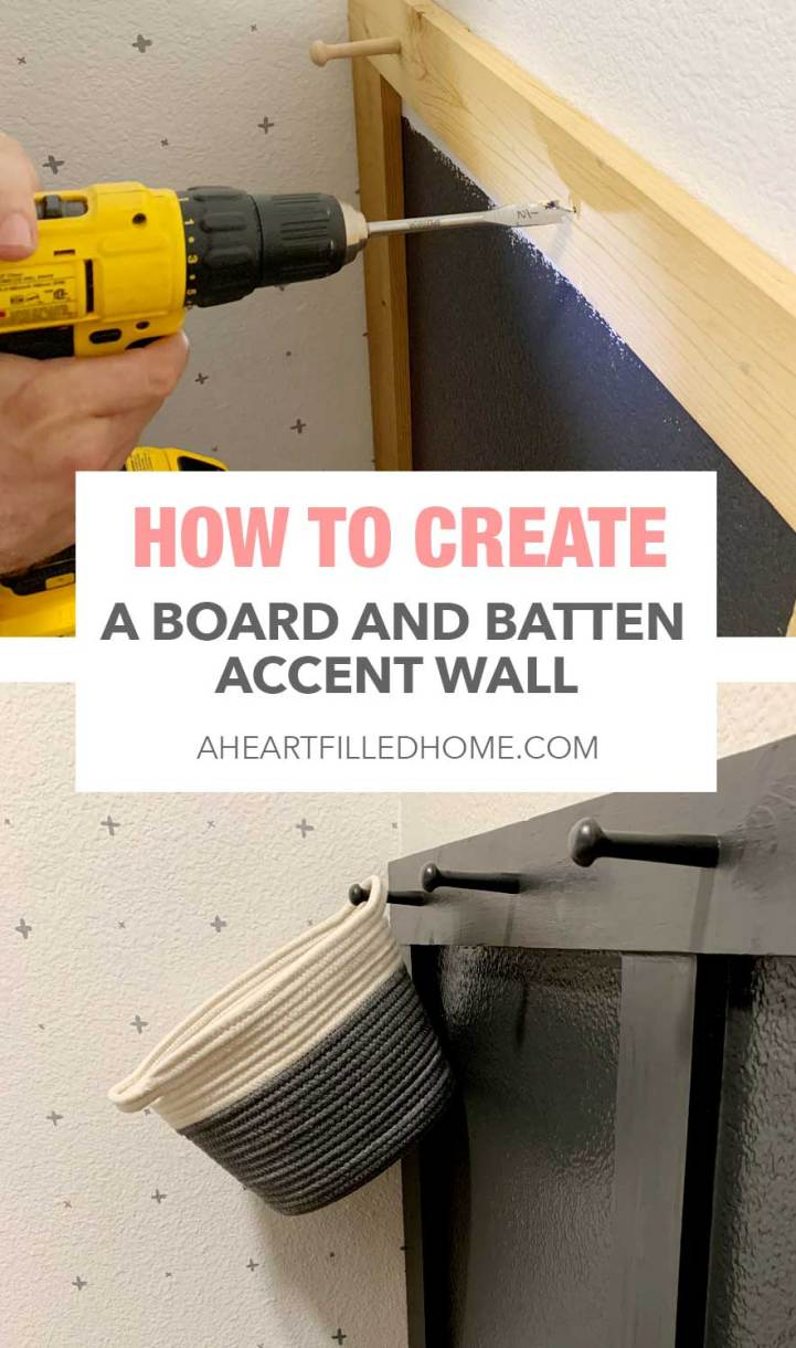 DIY Board and Batten Wall $100 Room Challenge - from A Heart Filled Home