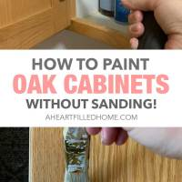 How To Paint Oak Cabinets Without Sanding - $100 Room Challenge Week 2