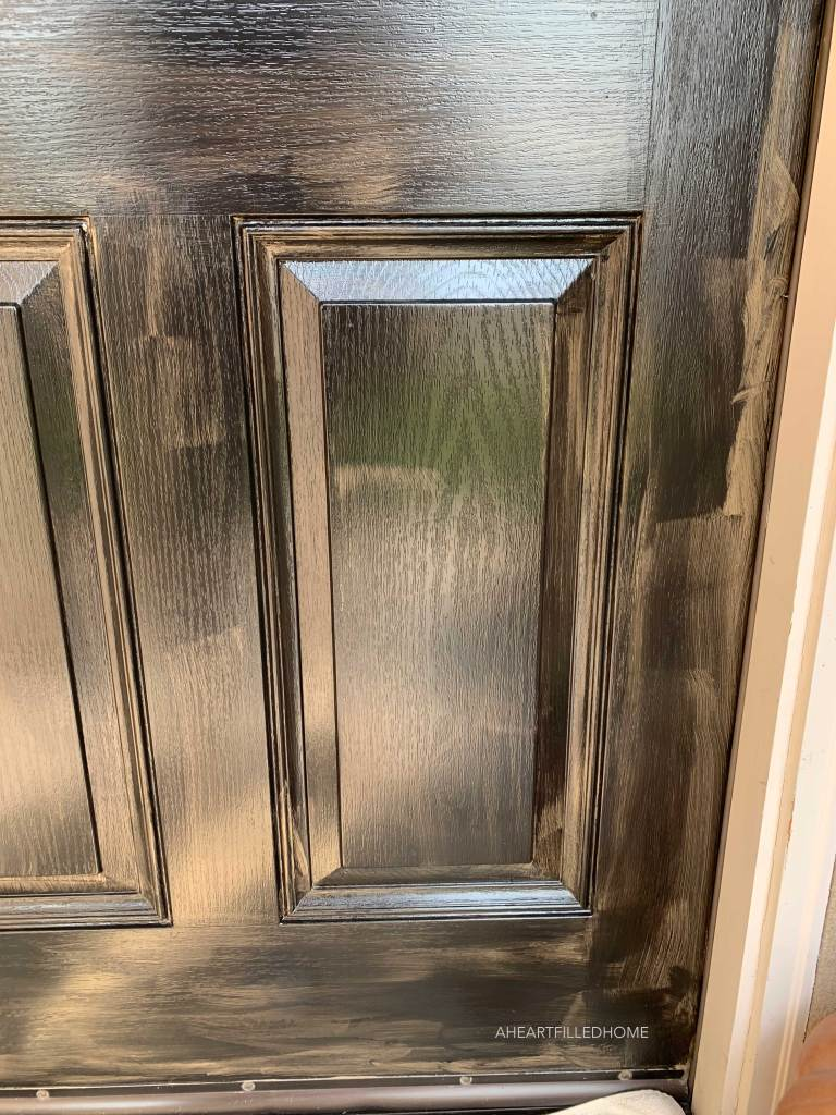 Porch Makeover with Modern Masters Front Door Paint - from A Heart Filled Home