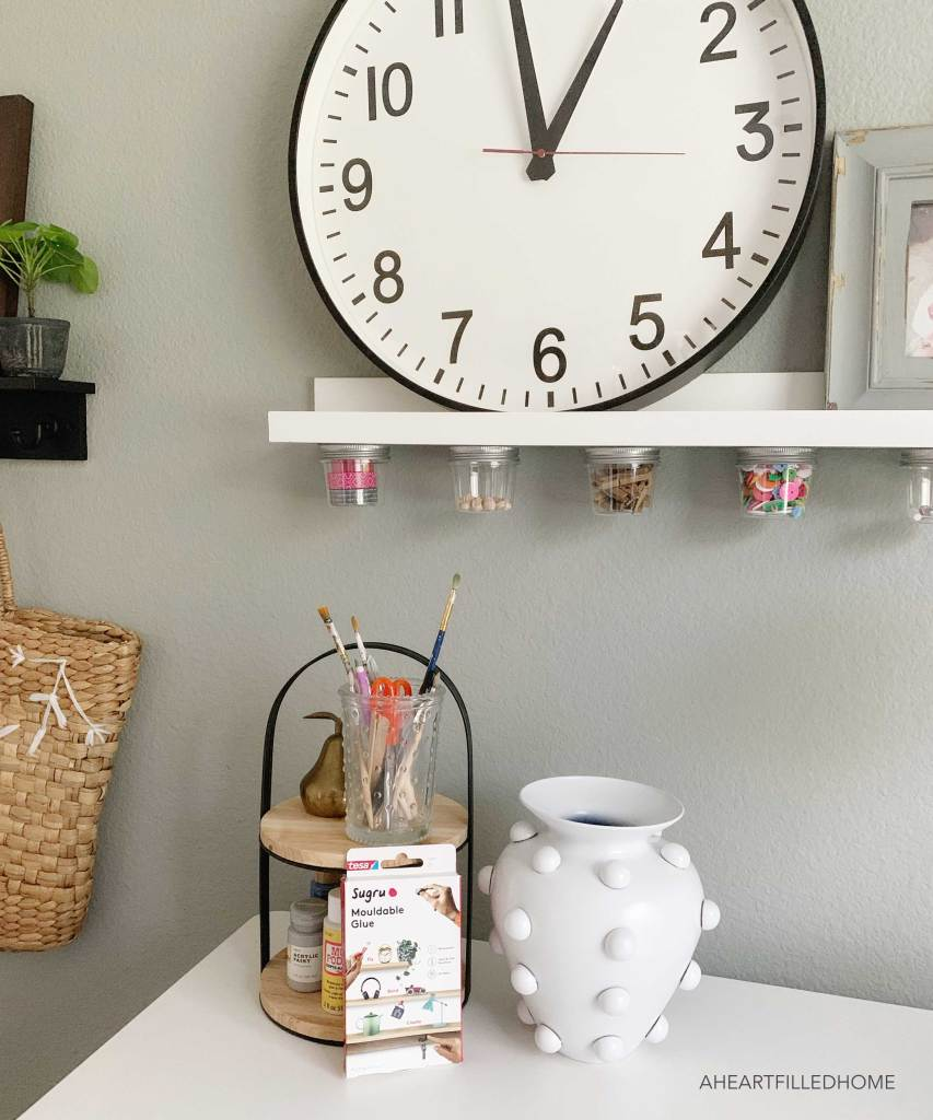 Office Craft Area with Sugru - from A Heart Filled Home