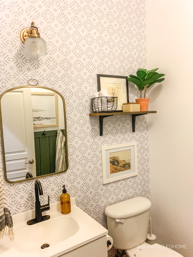 Affordable Small Bathroom Makeover from A Heart Filled Home