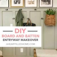 DIY Board And Batten Entryway