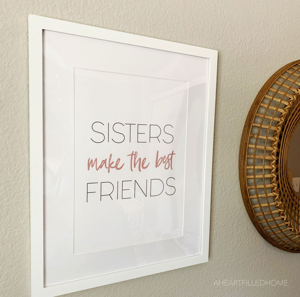 DIY wall art & my new area rug! Free printable wall art - ORC week 6 from A Heart Filled Home