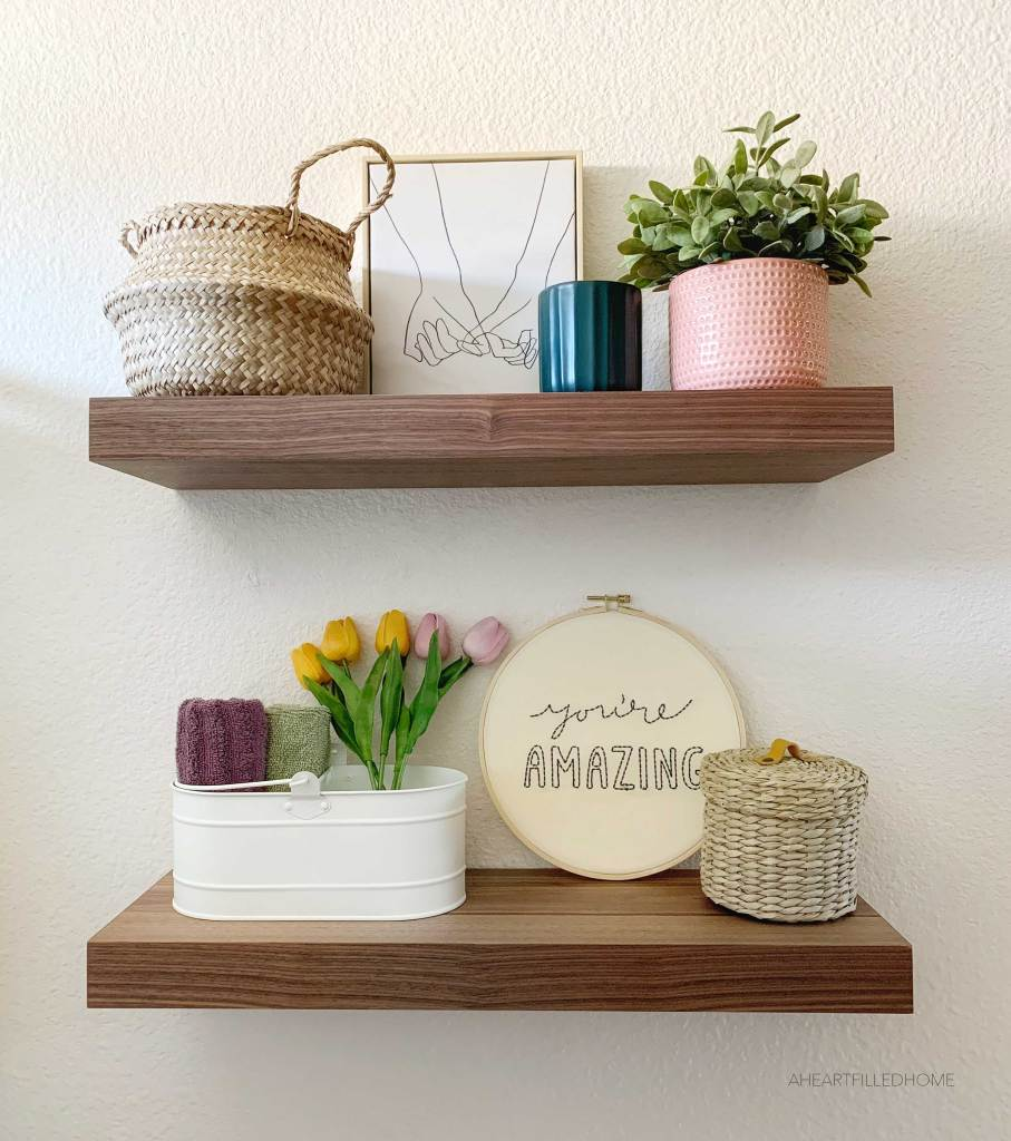 New Floating Shelves from Ultra Shelf - from A Heart Filled Home