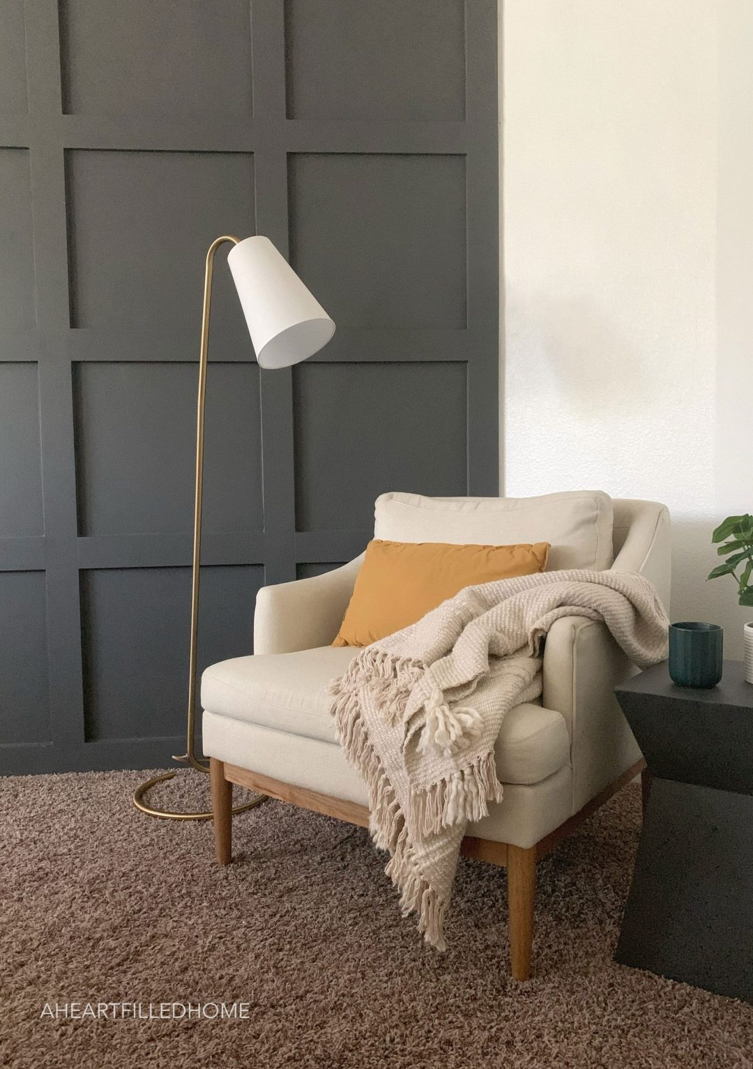 DIY Board and Batten Grid Wall with Hart Tools from A Heart Filled Home