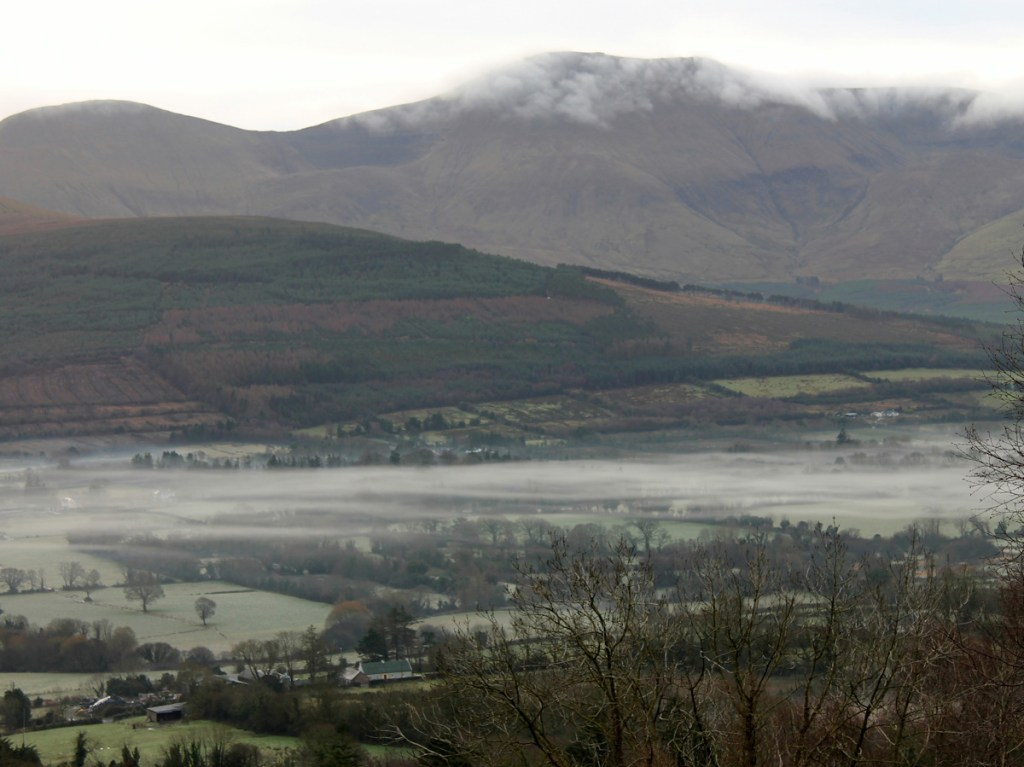 Fog over valley