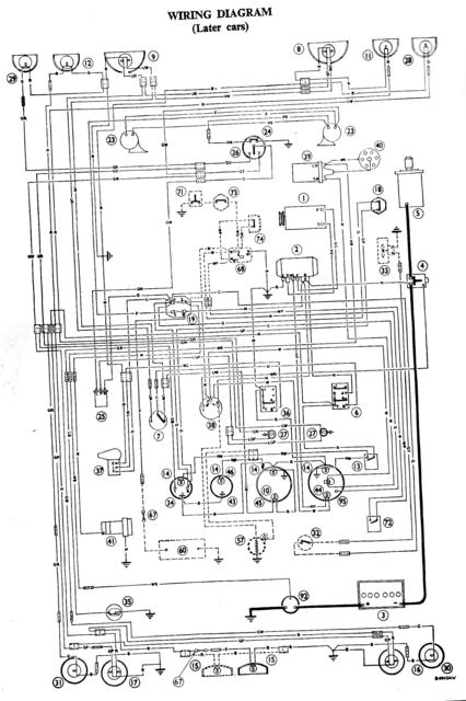 picture of wiring directional / horn order 1967 a/h mk3000