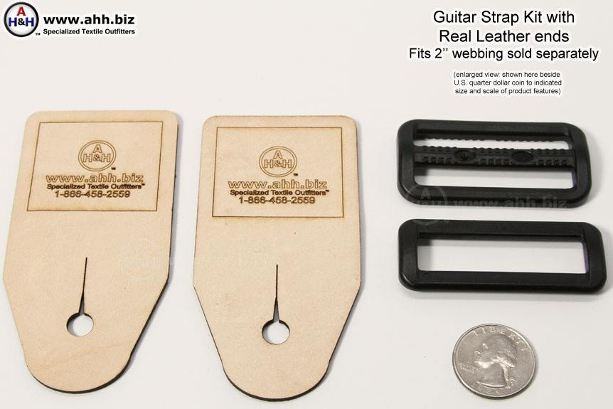 Guitar Strap DIY Kit with Real Leather end pieces