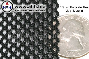 15mm Polyester Hex Mesh  Heavy Duty Mesh Material