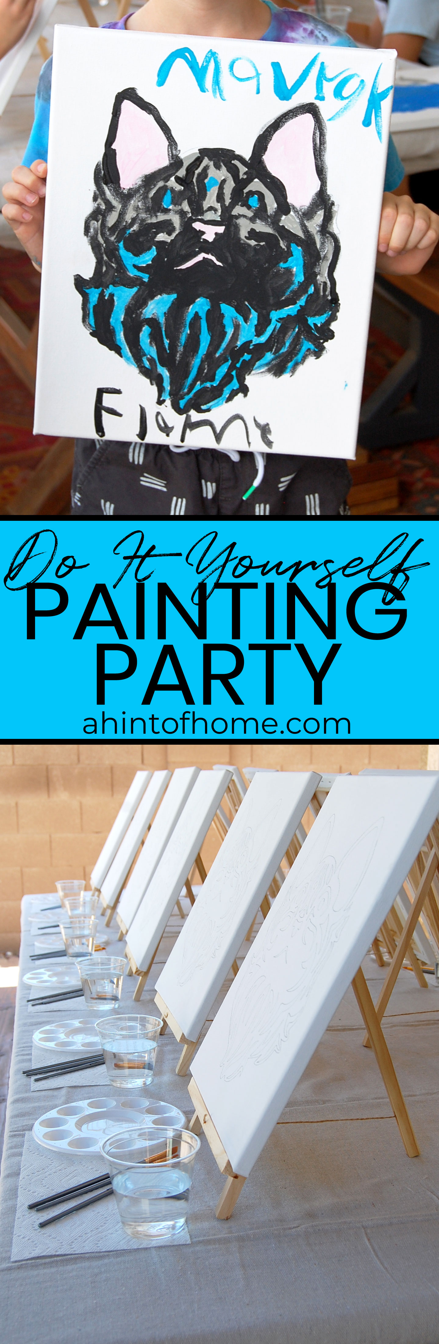 Host a DIY painting party with a little bit of prep and a lot of fun!
