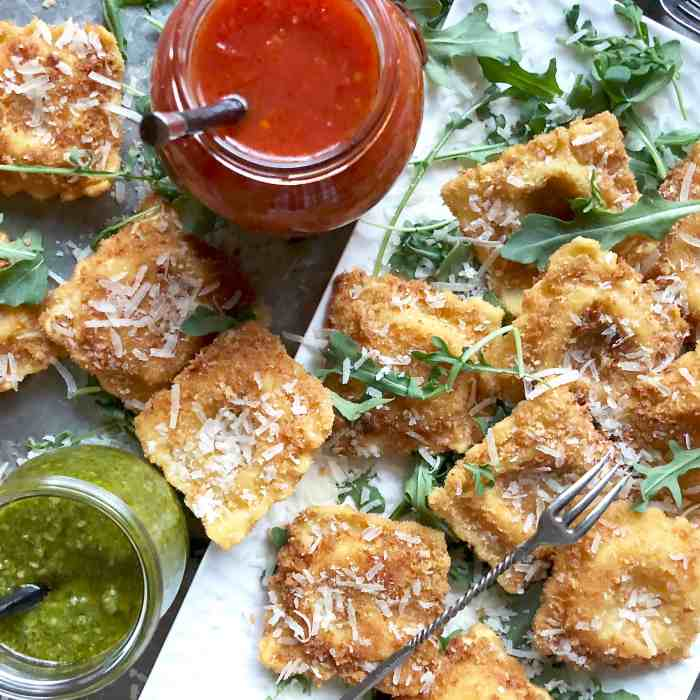 crispy fried ravioli