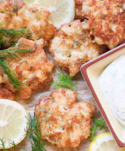 low-carb cheesy chicken fritters
