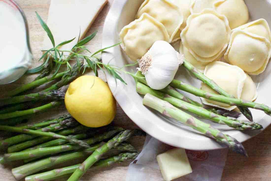 asparagus ravioli pie