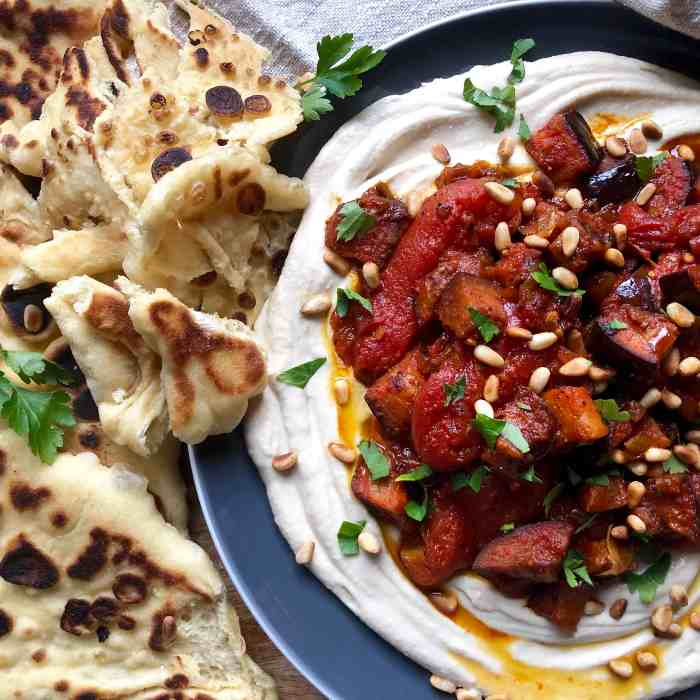morrocan roasted eggplant with stewed tomatoes