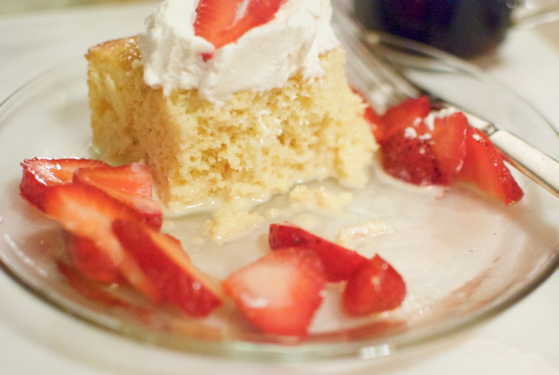 ina garten's tres leches cake with berries