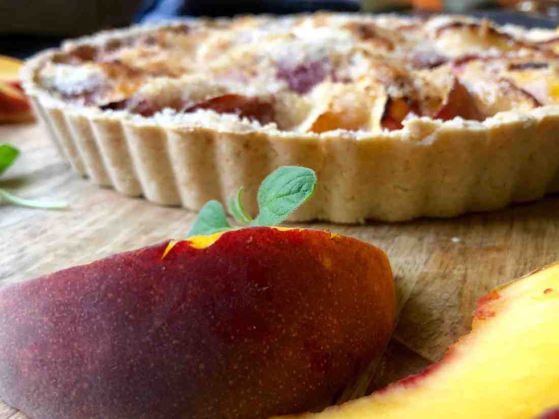 gluten-free (or not) peach tart