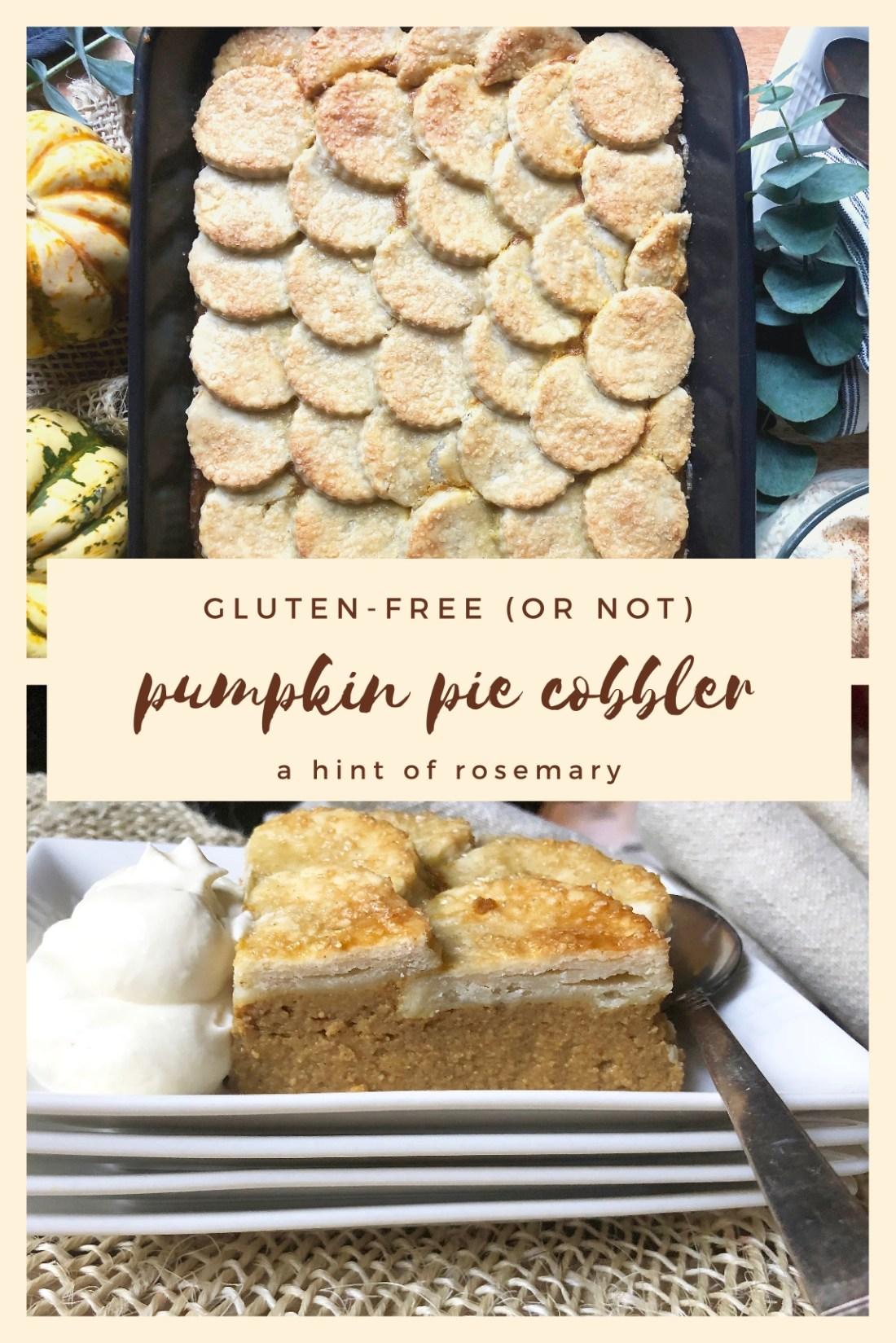 gluten-free pumpkin pie cobbler
