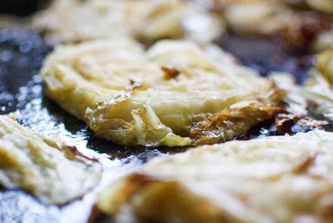 roasted cabbage & bacon carbonara