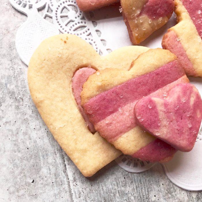 heart cutout cookies