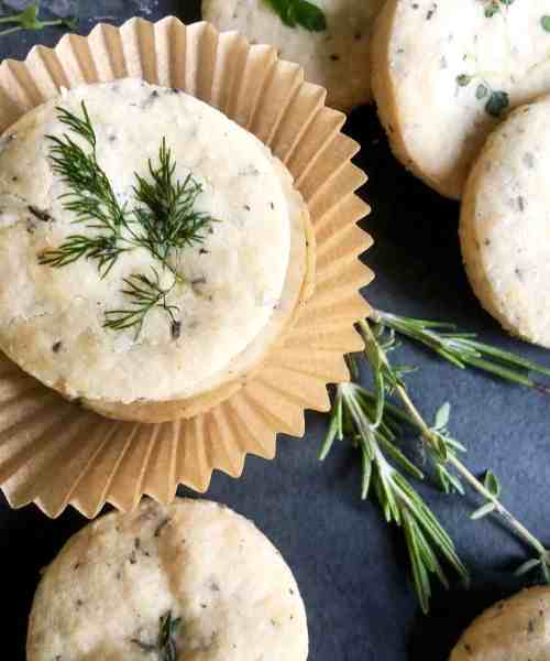 gluten-free (or not) rosemary parmesan shortbread crackers