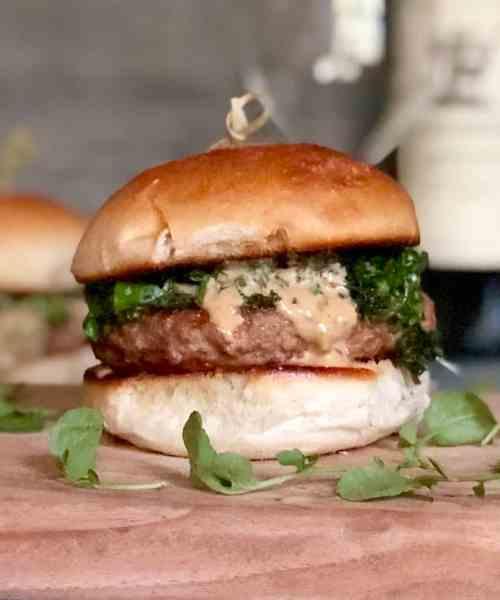 italian pork burgers with broccoli rabe