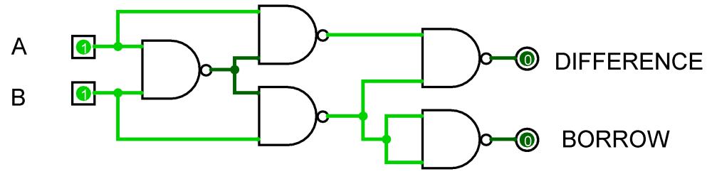 medium resolution of half subtractor nand half subtractor nand