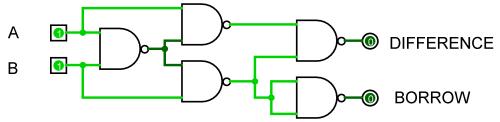 small resolution of half subtractor nand half subtractor nand