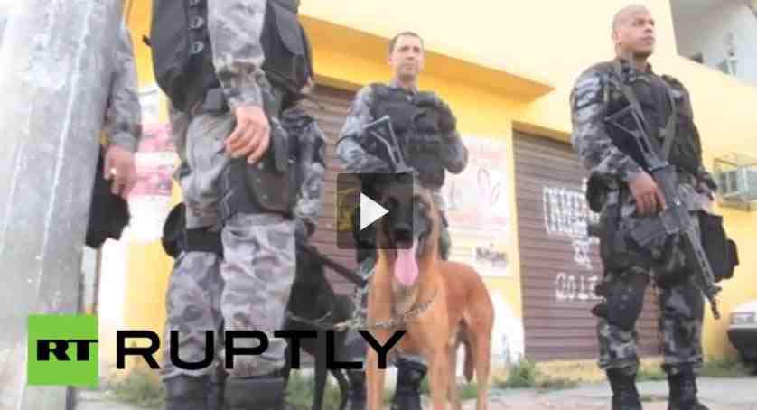 بالفيديو شرطة البرازيل تمشط الأحياء الفقيرة قبل كأس العالم