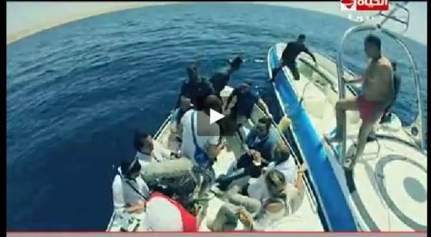 """بالفيديو الإعلامية ريهام سعيد تقفز في البحر وتفضل الغرق على الاغتصاب في مقالب """"فؤش في المعسكر"""""""