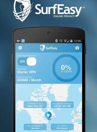 حمل تطبيق كسر بروكسي للاندرويد SurfEasy VPN for Android الآمن