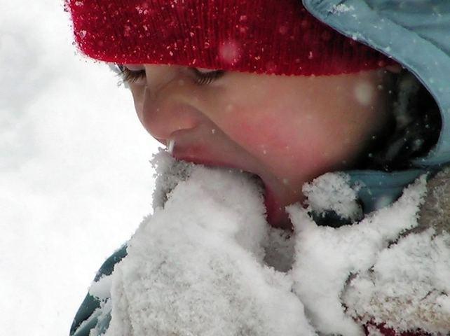 أكل الثلج