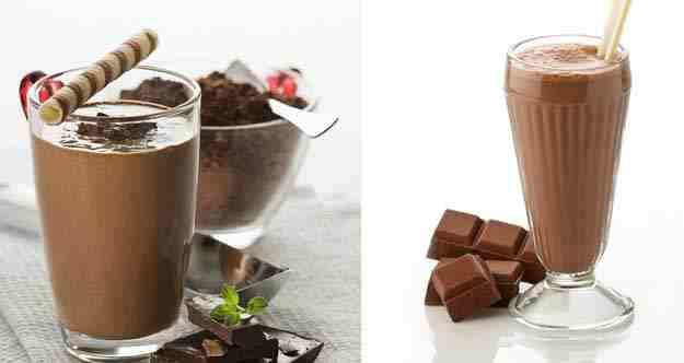 ميلك شيك بالشوكولاتة