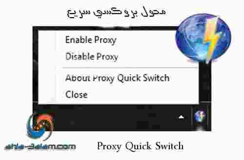 محول بروكسي سريع Proxy Quick Switch سهل الاستخدام