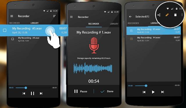 تطبيق لتسجيل الصوت رغم قفل الجهاز
