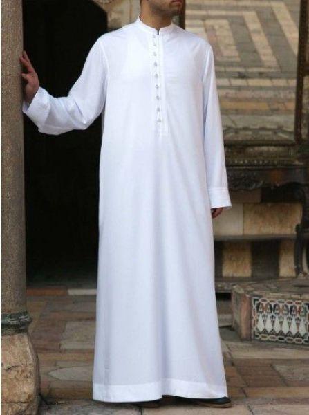 ثوب خليجي أبيض جديد