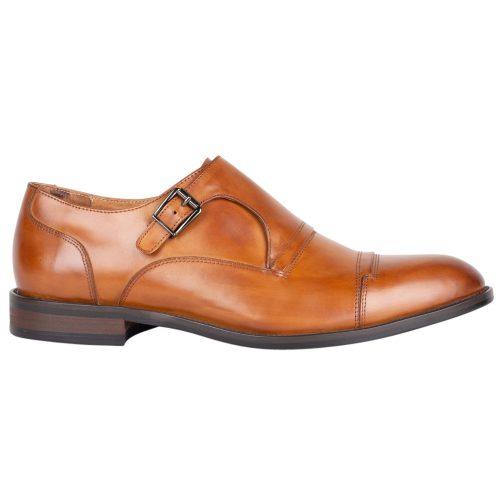 TGA monk strap cognac sko