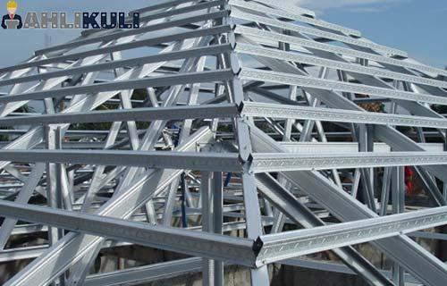jenis produk baja ringan 55 harga maret 2020 per batang meter ahlikuli