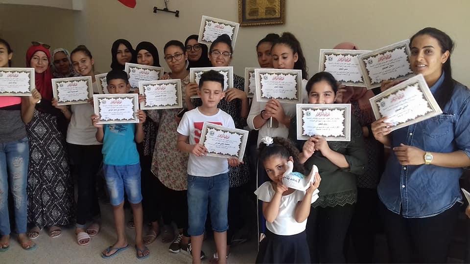 تكريم مجموعة من المتطوعات و المتطوعين/rendre hommage à un groupe de volontaires et de bénévoles